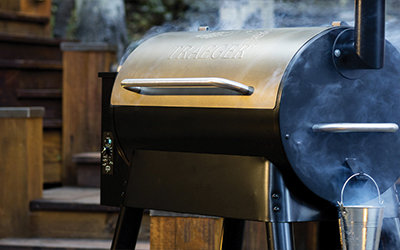 Traeger grill smoking
