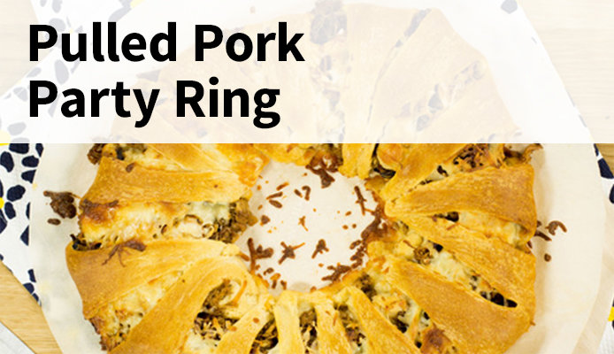 Broil King Pulled Pork Party Ring Appetizer for the Big Game
