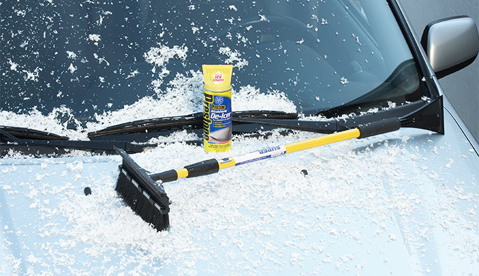 Snow brush and deicer