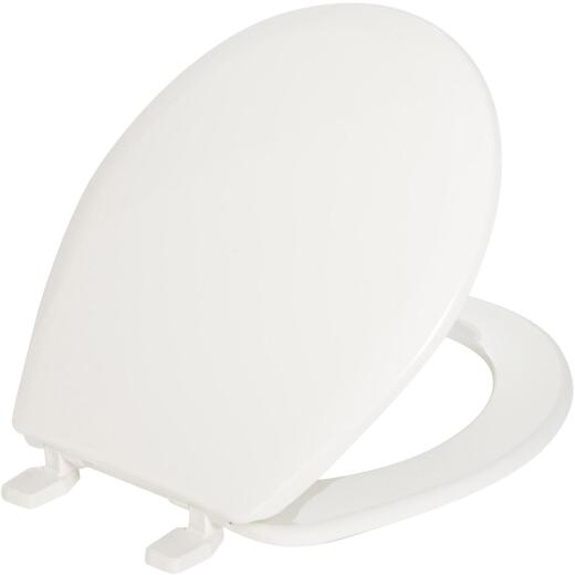 Mayfair Round Closed Front White Plastic Toilet Seat
