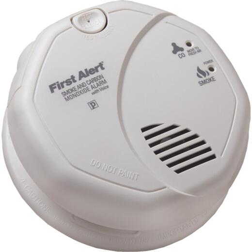 First Alert Hardwired 120V Photoelectric/Electrochemical Carbon Monoxide and Smoke Alarm with Voice Alert