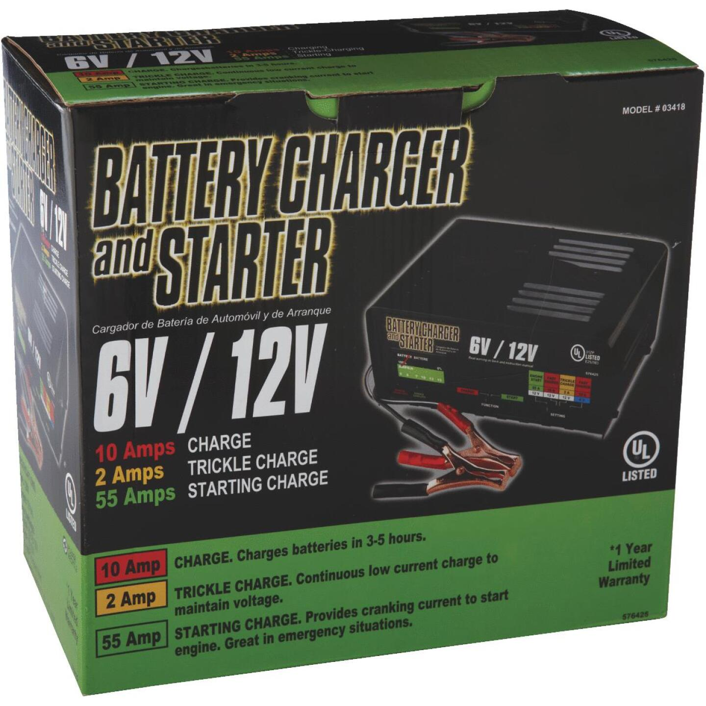 Automatic 6V and 12V 2A/10A/55A Auto Battery Charger Image 3